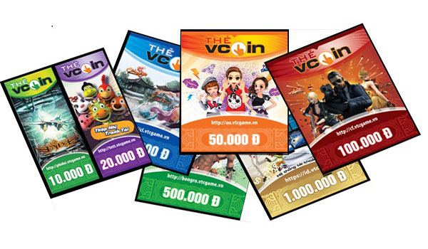 Nạp L2R qua thẻ Vcoin
